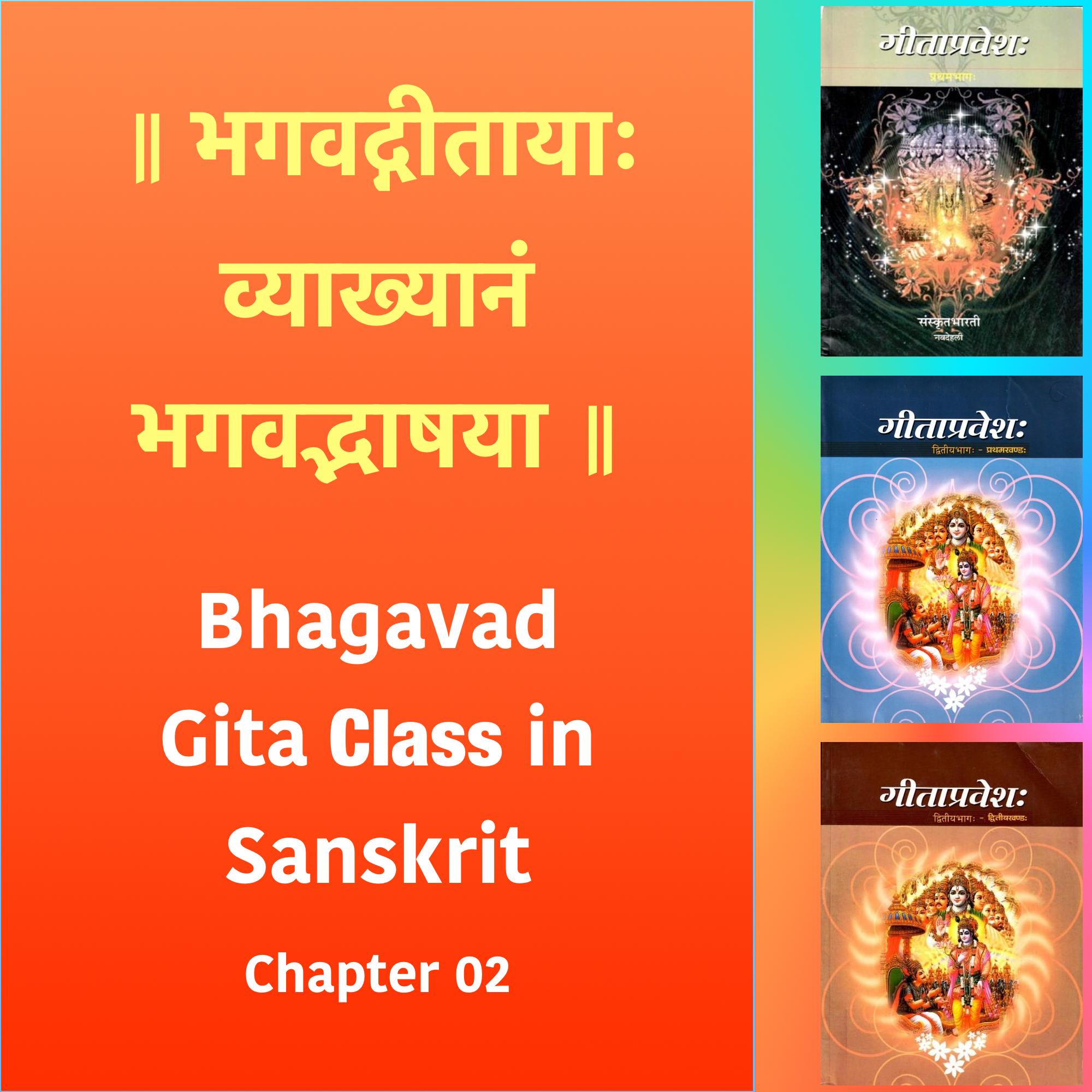 Bhagavad Gita Class (Ch2) in Sanskrit by Dr. K.N. Padmakumar (Samskrita Bharati)