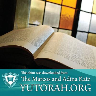 YUTORAH: R' Mordechai Marcus -- Recent Shiurim