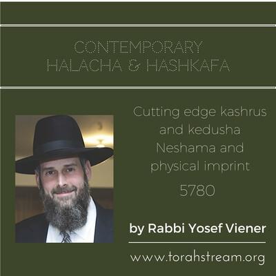 Contemporary Halacha and Hashkofa, 5780