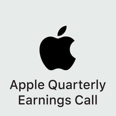 Apple Quarterly Earnings Call