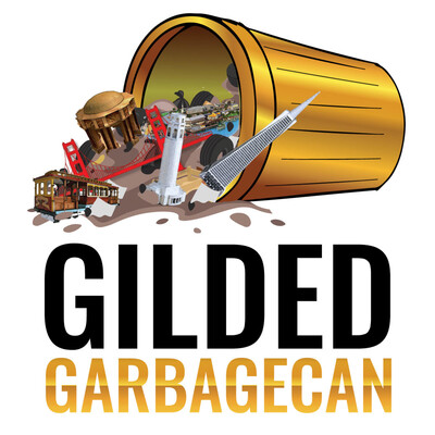 Gilded Garbage Can