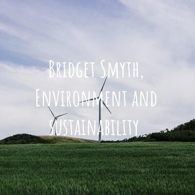 Bridget Smyth, Environment and sustainability
