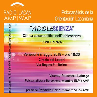 """Conferencia de Vicente Palomera en Turín: """"Adolesciencia""""."""