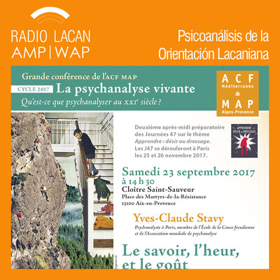Conferencia de Yves-Claude Stavy en Aix-en-Provence: El saber, la dicha y el gusto.