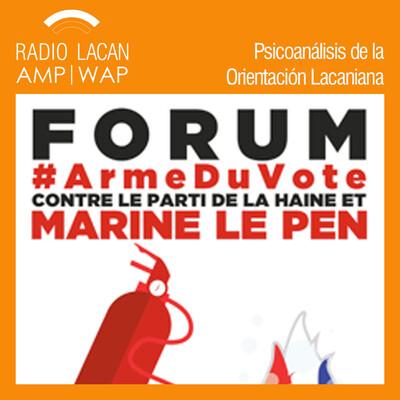 ECF-Foro 28: Contra el partido del odio y Marine Le Pen