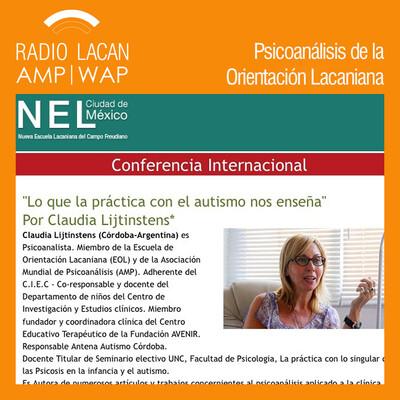 """Ecos de México D.F.: Entrevista a Claudia Lijtinstens, a propósito de la conferencia internacional """"Lo que la práctica con el autismo nos enseña"""", dictada en la NEL-México."""