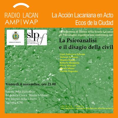 Ecos de Turín: La psicoanalisi e il disagio della civiltà (El psicoanálisis y el malestar en la cultura) Charla en Moretta