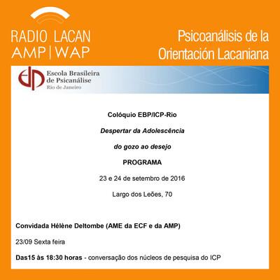 El coloquio EBP/ICP-ECF: El despertar de la adolescencia. Del goce al deseo. Conferencia La adolescencia en cuestión