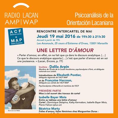 Encuentro Inter-carteles de la ACF- MAP en Marsella. Conferencia: Las cartas robadas del amor