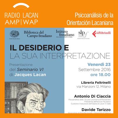 Presentación del Seminario 6 de Jacques Lacan en Milán