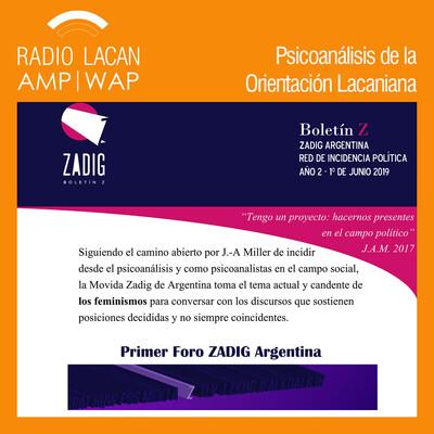 """Primer Foro Zadig en Argentina. """"Feminismos: Incidencias en la época."""" Apertura."""