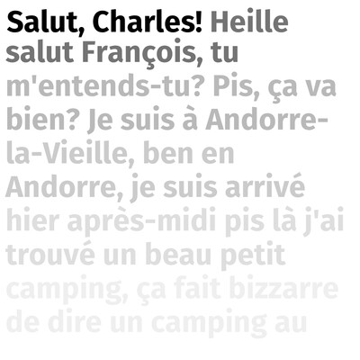Salut, Charles!