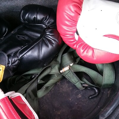 Gloves in the trunk