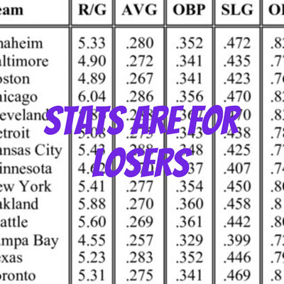 Stats are for Losers