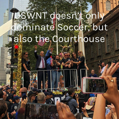 USWNT doesn't only dominate Soccer, but also the Courthouse