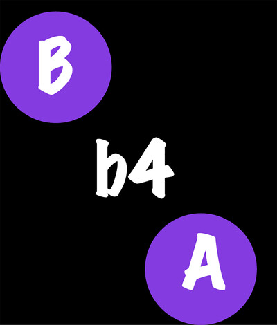 B Before A