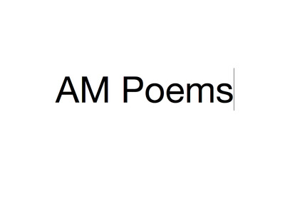 AM Poems | poetry read aloud
