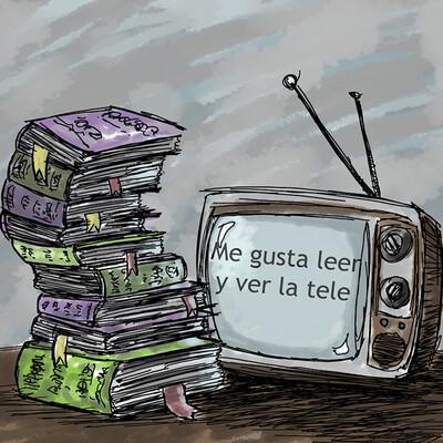 Me gusta leer y ver la tele