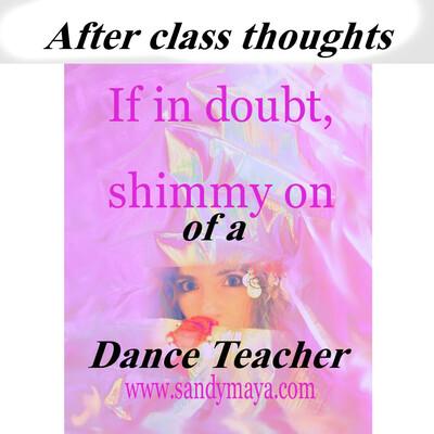 Thoughts of a dance teacher
