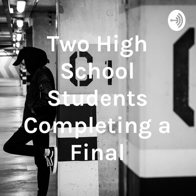 Two High School Students Completing a Final