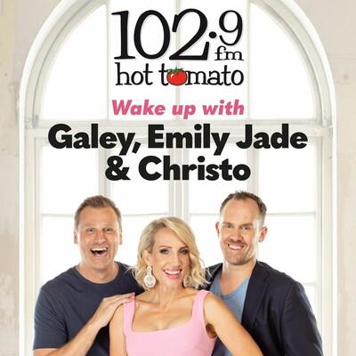 Galey, Emily Jade & Christo on 1029 Hot Tomato