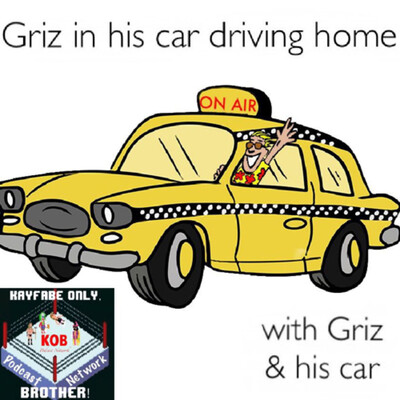 Griz in his car driving home