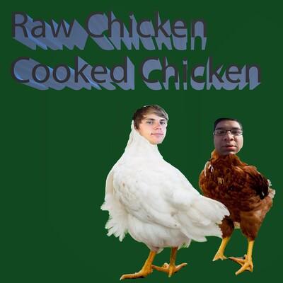 Raw Chicken Cooked Chicken