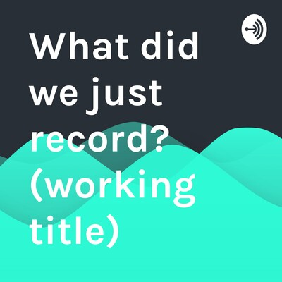What did we just record? (working title)