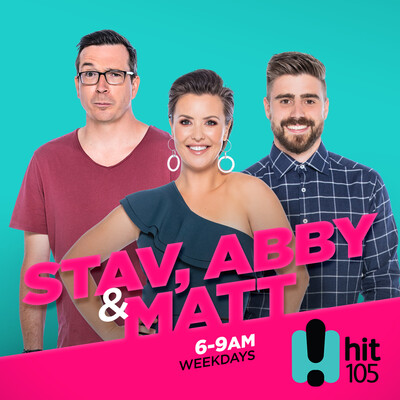 Stav, Abby & Matt Catch Up - hit105 Brisbane - Stav Davidson, Abby Coleman & Matty Acton