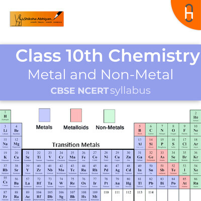 Question set 5   CBSE   Class 10   Chemistry   Metals and Non- metals