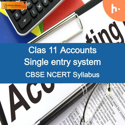 Questions Set-2   CBSE   Class 11   Accountancy   Single Entry System