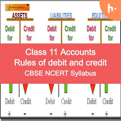 Question | CBSE | Class 11 | Rules of Debit & Credit