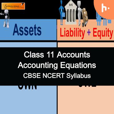 Questions Set | CBSE | Class 11 | Accounting Equations