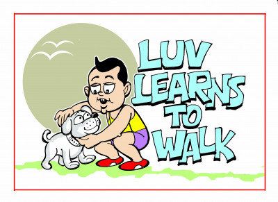Luv learns to walk