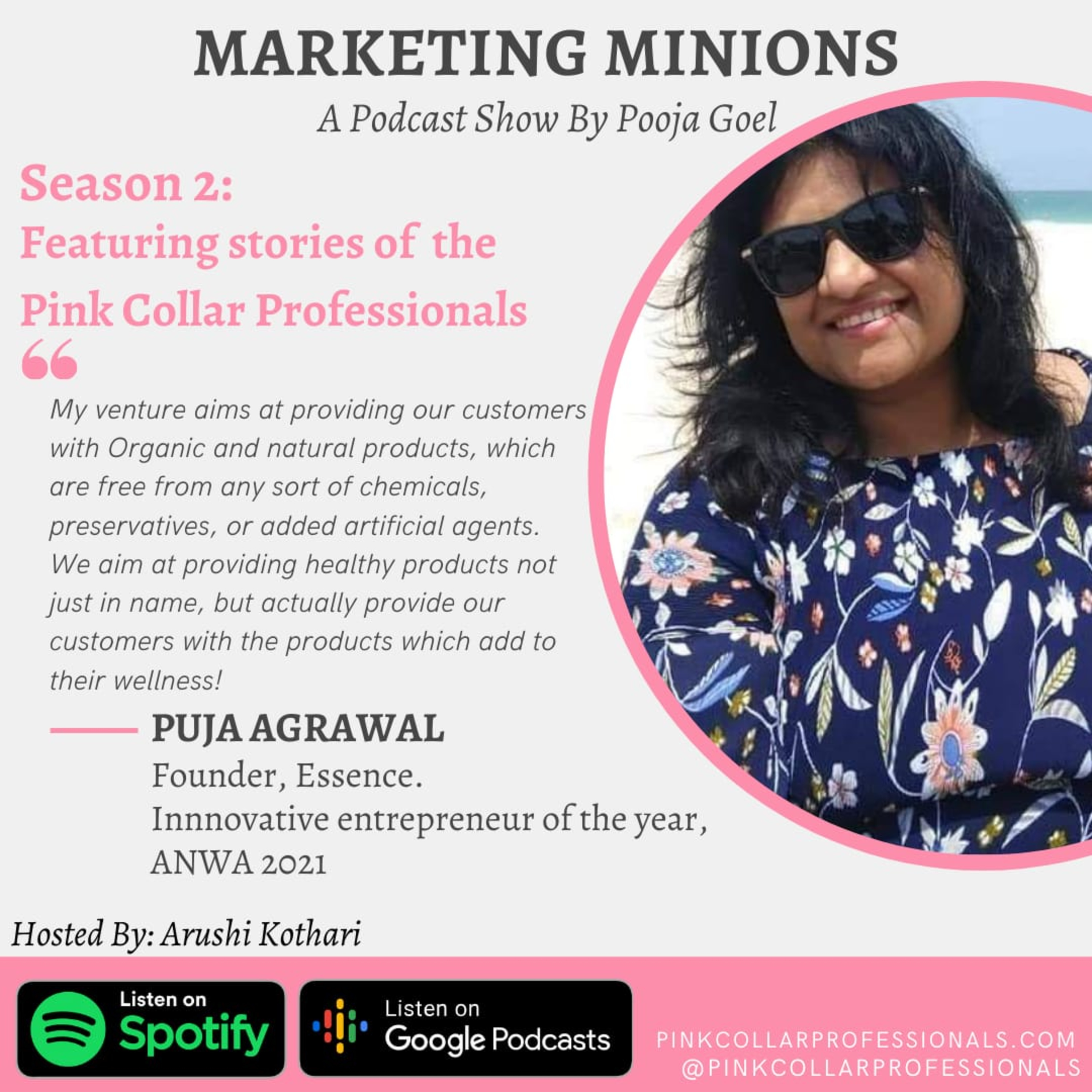 Puja Agarwal: Founder, Essence: The Pink Collar Professionals