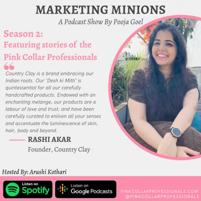 Rashi Akar, Founder, Country Clay: Pink Collar Professionals