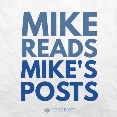 Mike Reads Mike's Posts