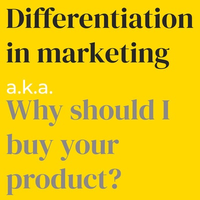 Differentiation in marketing