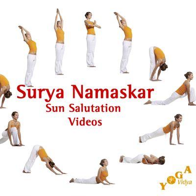Surya Namaskar Sun Salutation - Variations for Beginners and Advanced - Yoga Vidya Video