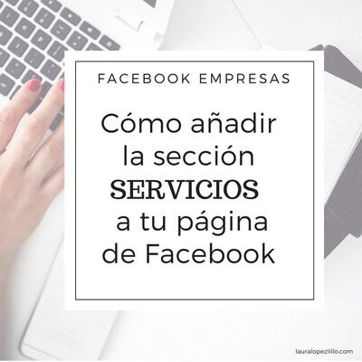 Cómo añadir la sección servicios a tu página de Fa