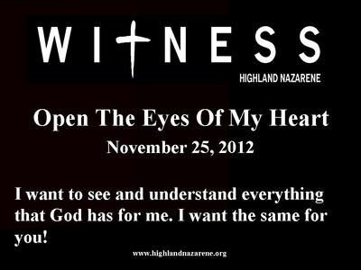 Open The Eyes Of My Heart !