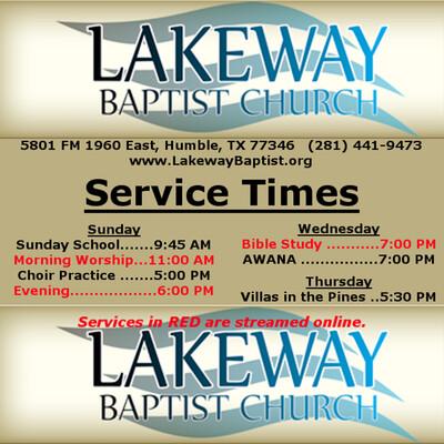 All Lakeway Baptist Church Sermons