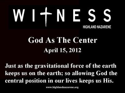 God As The Center