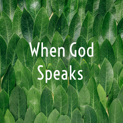 When God Speaks...shared By Donna Bowser