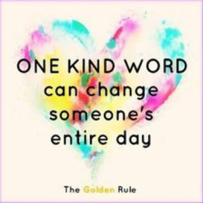 Kindness could change someone's mood
