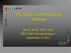DEH2603 Periodontology 2 - Smith
