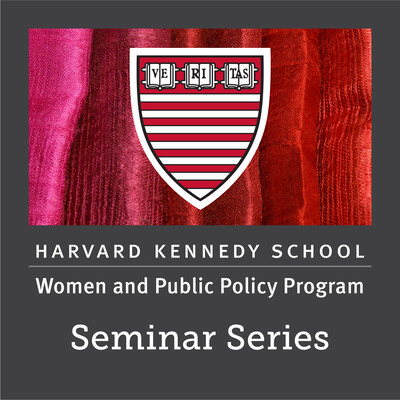 Women and Public Policy Program Seminar Series