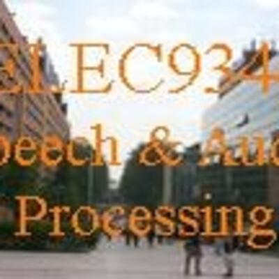 ELEC9344 Speech and Audio Processing by Professor E. Ambikairajah