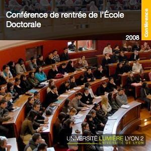 Conférence de rentrée de l'Ecole Doctorale