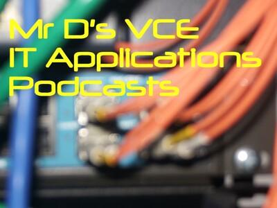Mr D's VCE Informatics Podcast